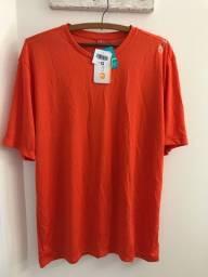 Camiseta Dry Fit Laranja G - Nova com etiqueta
