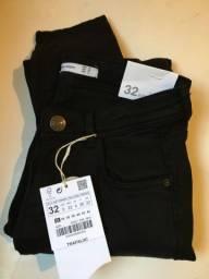 Calça preta Zara nova importada TAM 32