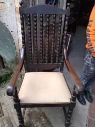 """Par de cadeiras antiga """"jacarandá"""""""