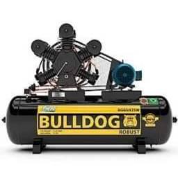 Compressor de ar 60 pés 425lt - 15 cv alta pressão - industrial bulldog robust