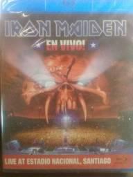 Vende se 2 DVDs Blue ray  um do Iron e outro com várias bandas ambos  novos e  lacrados