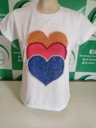 Camisetas personalizadas com pérolas