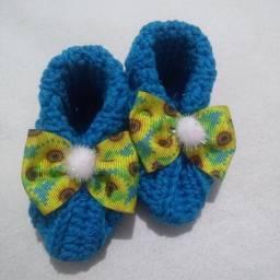 Sapatinhos para bebê em crochê