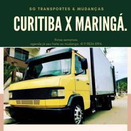 Rotas Curitiba x Londrina e Maringá.