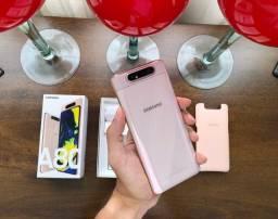 Samsung Galaxy A80 128gb Rose Novo Completo C/ Garantia e Nota