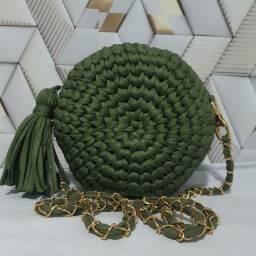 Bolsa de crocher fio de malha