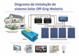 Kit Energia Solar Off Grid 1,32 Kwp (180kwh)<br>