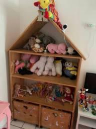 Casinha de brinquedos para quarto de criança
