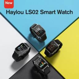 "Smartwatch Haylou LS02, Bluetooth 5.0, IP68, Tela 1.4"" LCD - Lançamento 2020? (Preto)<br><br>"