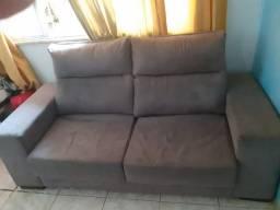 Sofá Retrátil e reclinável 2 lugares. Oportunidade