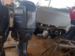 Motor Yamaha 60 Hp 4 t em perfeito estado.
