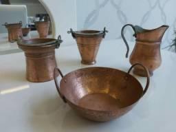 Conjunto de mini peças em bronze