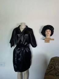 Conjunto de robe e Touca e fronha