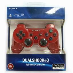 Controle Ps3 3 Joystick Sem Fio Sony Dualshock 3 Produto Novo