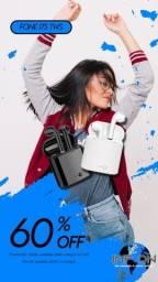 Fone de Ouvido I7s TWS / Promoção / Branco / Preto / Bluetooth 5.0