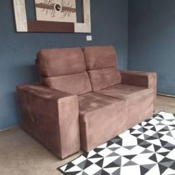 sofá retrátil e reclinável entrego