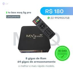 Tv box Mxq 5g pro com 8 gigas de Ram e 64 gigas de armazenamento. Promoção!