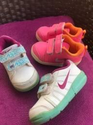 3 tênis Nike e adidas