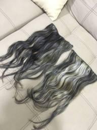 2 telas de cabelo humano 55cm mais ou menos