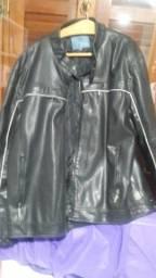 Jaqueta motoqueiro couro sintético