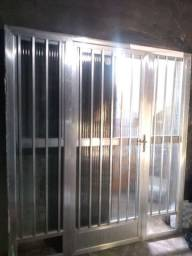 Fechamento de alumínio 210+190  valor 500 reais tel *