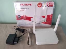 Roteador Residencial 300Mbps 02 Antenas - Fibra ou Rádio - Novo