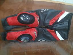 Calça motocliclista couro Alpinestars 42