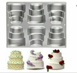 Mini forma para bolo de casamento.