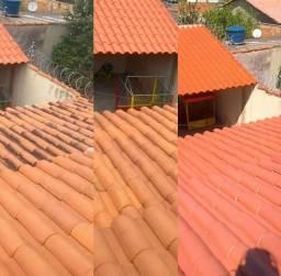 Limpeza de telhas e pisos