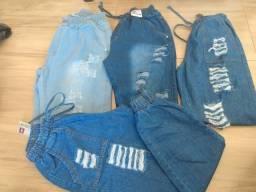 Calça jeans jogger feminino