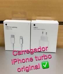 Kit Carregador Iphone Turbo Original
