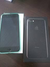iPhone 7 128gb cor preto semi novo