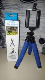 Tripe Flexível Para Celular Ou Camera De 30CM