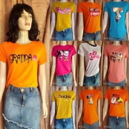 Camisetas tshit feminina tam. M/G