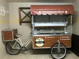Negócio pronto: Food Bike (carrinho) para café, suco e comida