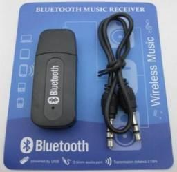 Receptor Bluetooth USB Para Saída Auxiliar P2