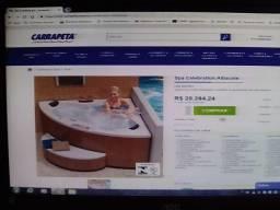 Vendo uma banheira de hidromassagem