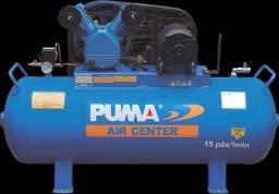 Compressor de ar 15pés reservatório de 150 litros, motor 3vc monofásico 220v