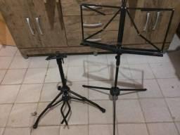 Suporte de chão para cavaquinho e banjo, violino e pasta musical