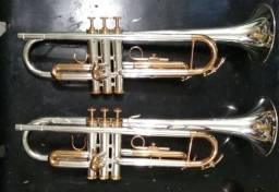 Trompete Weril Et1172 Prata Com Ouro