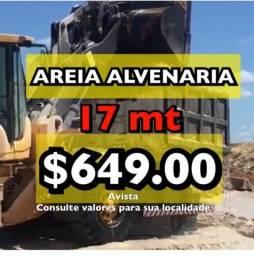 Direto do Areeiro: Areia Lavada Alvenaria carrada com 17mt