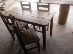 Jogos de mesas e cadeiras de madeira para restaurante,pizzaria promoção
