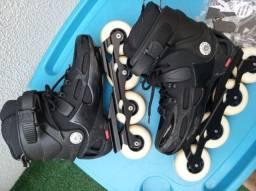 Patins roller blader vendo ou troco por bicicleta
