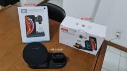 Carregadores sem fio para celular Android, Iphone, e apple watch e airpods
