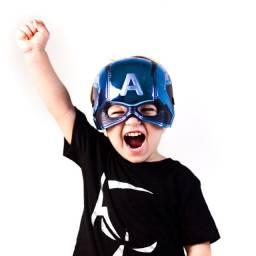 Máscara Do Capitão América Infantil Fantasia Vingadores
