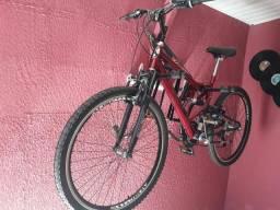 Bicicleta nova com amortecedor e mais TROCO POR TV