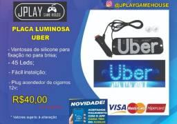 Placa luminosa Uber 12v