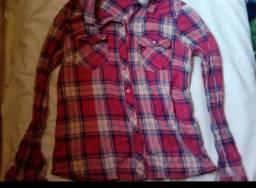 Blusa quadriculada rosa p usada