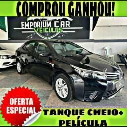 TANQUE CHEIO SO NA EMPORIUM CAR!!!! TOYOTA COROLLA 1.8 GLI ANO 2016 COM MIL DE ENTRADA