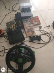 Vendo PS3 com 2 controles um novo nunca usei 5 jogos e volante knup
